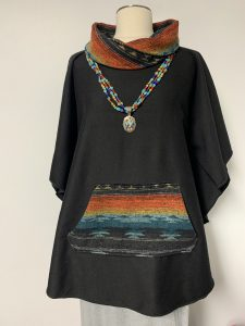 poncho 14 black with southwest 1 of k $59