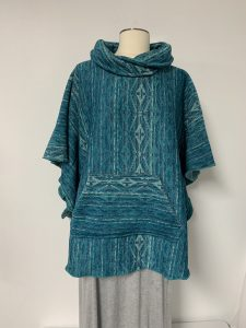 poncho #28 turquoise 1 of k $59