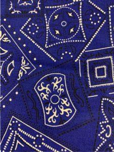 868 blue bandana