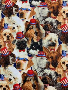928 Dogs with flags