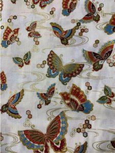 931 Green gold butterflies