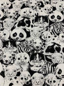 #949 Animals blk white