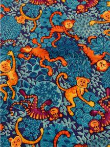 #953 Monkeys Blue