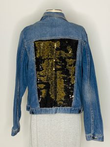blk gold sequins Large